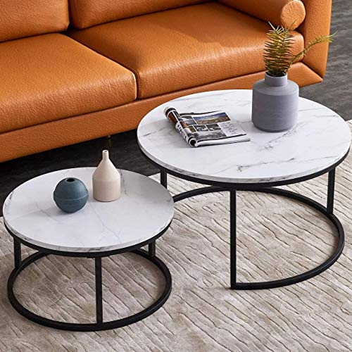 Modern Nesting Coffee Table Set For, Nesting Coffee Tables Round