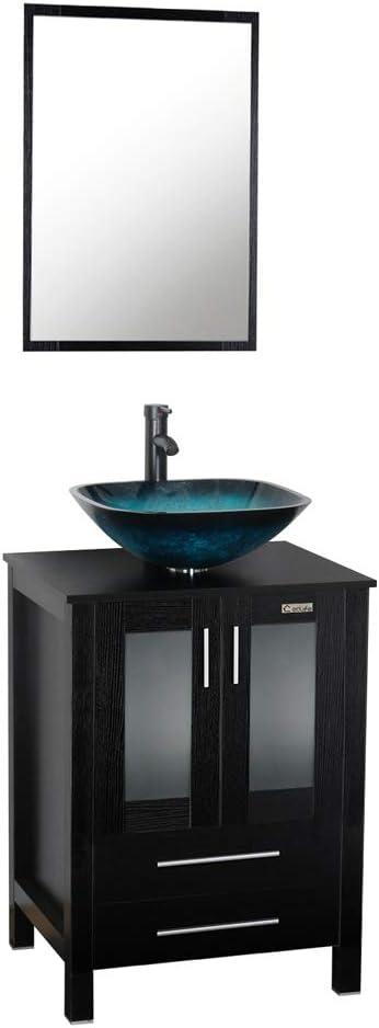 24 Inch Black Bathroom Vanity, 24 Inch Bathroom Vanity With Top And Sink