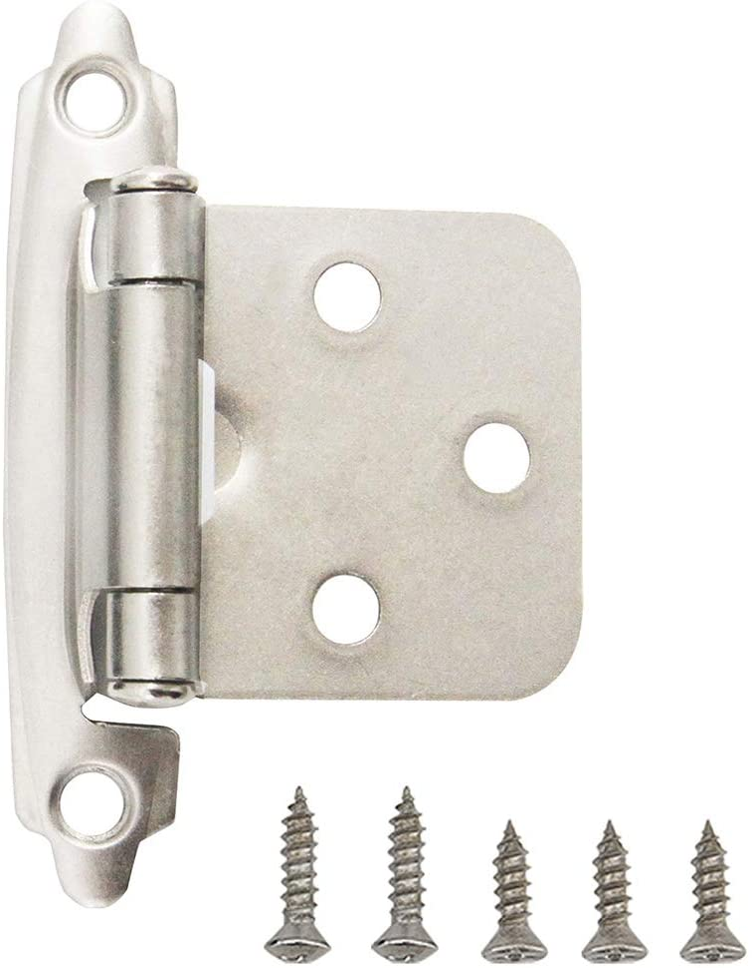 Hardware 1 2 Inch Face Mount Self, Satin Nickel Cabinet Hinges