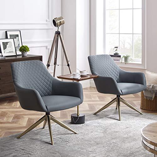 Volans Modern Mid Century Swivel, Modern Home Office Chair No Wheels