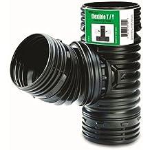 Poly  Drain Pipe Flex-Drain  25 ft L x 3-3//4 in Dia 51110 Dia x 4 in