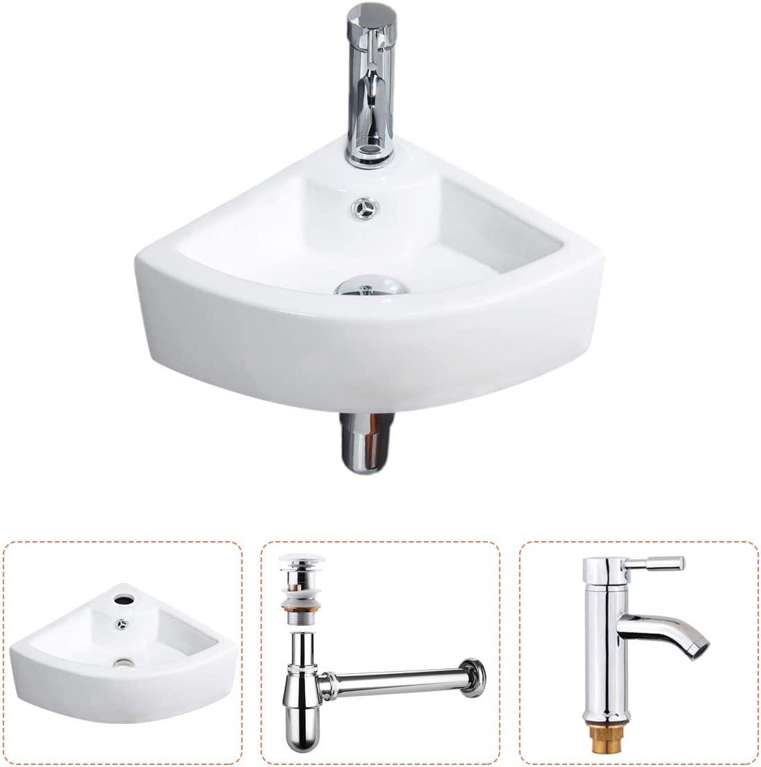 Gimify Bathroom Corner Sink Small, Small Corner Sink Bathroom