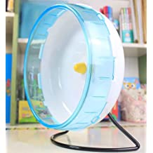 OUYAWEI Home for 12cm Silent Running Wheel Hamster Seamless Round Roller Exercise Running Toy Pet Supply /Blue