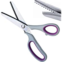 2 Piece Scalloped /& Zigzag Pinking Shears Stainless Steel Handled Professional