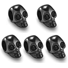 Jewelry Making Accessory yueton?Pack of 50 DIY Mixed Color Turquoise Skull Head Loose Spacer Bead Charm for Crafting