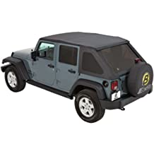 with Factory Soft top Hardware Removed Bestop 90031-35 Black Diamond Duster Deck Cover for 2007-2017 Wrangler Unlimited