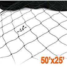 SUNSHORE Black 7FTx20FT 12mm12mm Heavy Anti Bird Netting Bird Netting Garden Fence and Crops Protective Fencing 2x6.1M