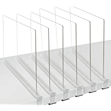 Anyumocz 4 Pcs White Plastic Shelf Dividers Closet Shelf Organizer Divider,Wardrobe Partition Shelves Divider for Storage and Organization
