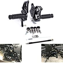 MZS Rearsets Footrests Footpegs CNC Adjustable Rear Sets compatible Honda CBR500R CB500F CBR400R CB400F 2013 2014 2015 2016 2017 Black Honda CBR500R CB500F 2013-2017 Rearsets
