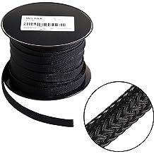 Split Loom, 25FT Techflex 1//4 Split F6 Braided Cable Sleeving Wrap