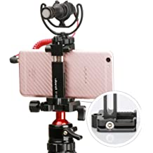 MeterMall New Quick Release Plate L Bracket Hand Grip Red for Sony A6600 Cold Hot Shoe Mount