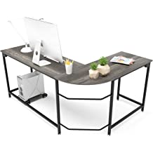 L-Shaped Computer Desk PC Laptop Table Study Home Office Workstation Wood Corner