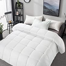 700+ Fill Power 50oz Fill Lightweight Duvet Insert Bedsure White Down Comforter Queen Size Down Proof with Corner Tabs for Fall//Winter 100/% Cotton Cover Hypoallergenic