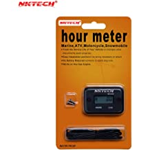 NKTECH Quartz Hour Meter Round Gauge NK-HS3 6-Digit DC//AC Hours Meters Counter
