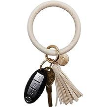 Fashion Men/'s Leather Car Key Holder Keychain Wallet Pouch Purse Key Bag Soc