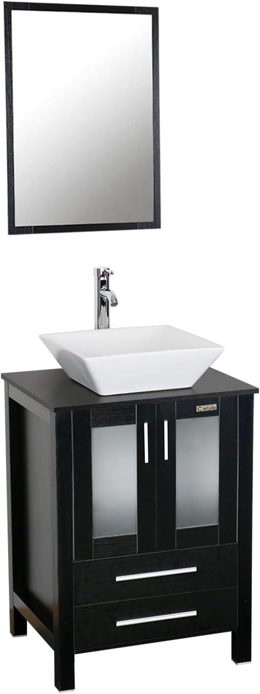 Eclife 24 Modern Bathroom Vanity, Modern Bathroom Cabinets With Sink
