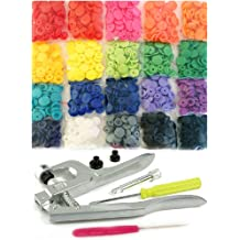 370 Sets 37-Color Lead-Tested Professional-GradeThe Original KAMsnaps Size 20 T5 KAM Snap Plastic Fasteners Punch Poppers Closures No-Sew Buttons