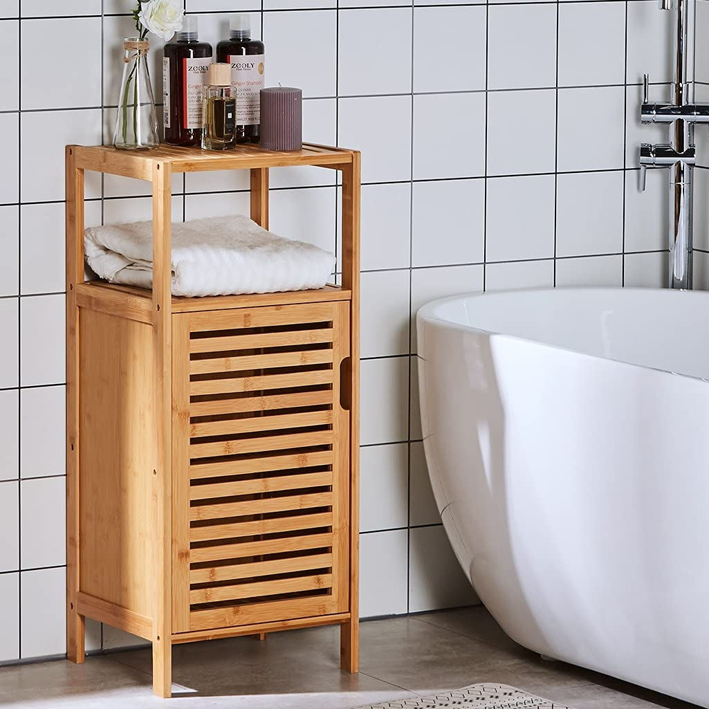 Viagdo Small Bathroom Cabinet, Small Corner Stand For Bathroom