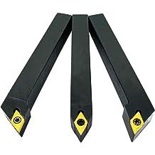5//8 Lathe Excircle Indexable Carbide Turning Tool Holder MWLNR1616H08 with 5//8 Metal Lathe Internal Boring Bar S16Q-MWLNR08 with Indexable Carbide Turning Inserts WNMG431 WNMG080404