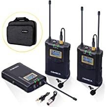 394-Foot Range Version 3.0.2//3.0.4 of Receiver Available Comica UHF 96-Channel Single Wireless Handheld Transmitter for WM300 Microphone System Connect XLR Camcorder Camera /& Smartphone