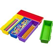 Storex Mini Crate Assorted Colors 61474U12C 12-Pack 9 x 7.75 x 6 Inches