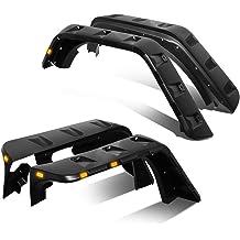 Black DNA MOTORING WF-DRAM02-MBK Side Wheel Fender Flares Pack of 4