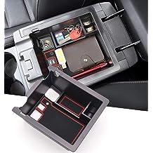 with Red Mat Armrest Center Console Storage Glove Box Organizer for Toyota C-HR 2016-2018