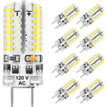 3.5w 6 Pack 3.5W LED G8 Bulbs Dimmable 3000k Warm White Puck Light 350lm Equivalent 35W Halogen Bulb Cabinet Under Counter Kitchen Lights Bi-Pin Microwave Oven Bulb