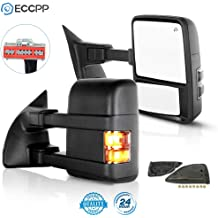 01-05 Ford Excursion Pair Set Extendable Power Heated Tow Mirrors Roadstar Towing Mirrors for 99-07 Ford F250 F350 F450 F550 Super Duty