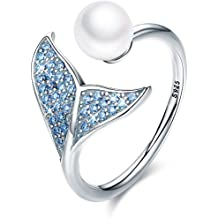 THE PEARL SOURCE 11-12mm Genuine Black Tahitian South Sea Cultured Pearl /& Cubic Zirconia Khloe Ring for Women