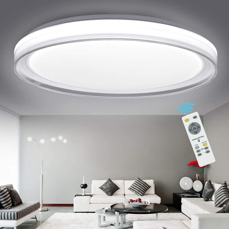 Dllt 48w Modern Dimmable Led Flush, Flush Mount Dining Room Lighting