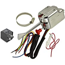 kesoto Chrome Universal Street Hot Rod Turn Signal Switch for Ford GM with Flasher 12V