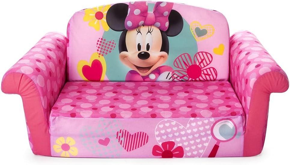 Flip Open Foam Sofa Minnie Mouse, Minnie Mouse Furniture