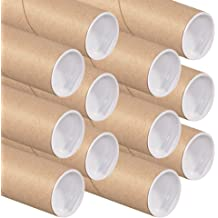 2 inch x 12 inch MagicWater Supply Mailing Tubes with Caps 6 Pack