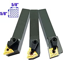 SHARS 7PC 3//8 Indexable Carbide Turning Threading Lathe Tool Insert Set 404-2889 P