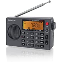 Portable Weather NOAA Radio Powered by 3X D Cell Batteries or AC Power for Household and Outdoor by PRUNUS J-05 Transistor Radio Battery Operated AM FM Radio with Excellent Reception