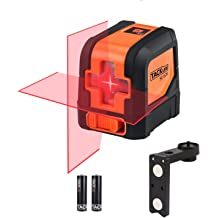 A.B Crew 360/°Self Leveling Laser Level Green Beam 5 Lines 6 Points Laser Level Horizontal//Vertical Cross Line Straight//Tilt Line Rechargeable Dust Proof Rubber Touch Keypad Rotary Base