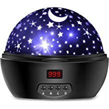 Best Projection Lamp Gift for Bedroom Birthday Parties Christmas 3 Sets of Film Baby UFO Star Night Light for Kids,Sleeping Sound Machine with Remote,Timer,Built-in Bluetooth Speaker