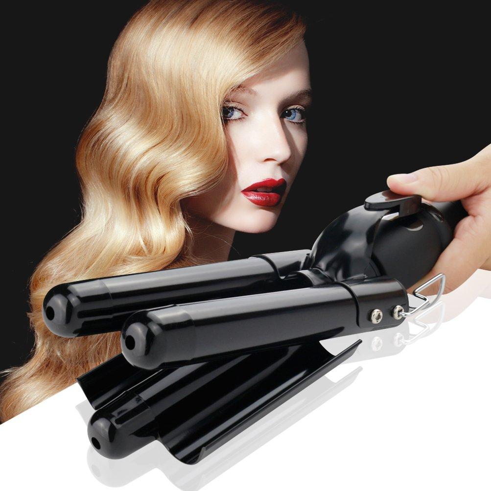 Buy Curling Iron 18 Barrel Hair Waver Iron Black Jumbo Hair Crimper ...