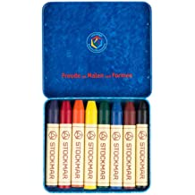 Stockmar Beeswax Stick Crayons Set in Wooden Storage Case japan import Toy