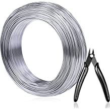 Tatuo 82 Feet Aluminum Craft Wire Bendable Silver Metal Wire for Crafts DIY and Model Skeleton Projects 3 Sizes 1.5 mm, 2 mm, 2.5 mm