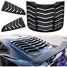 Danti Matte Black Rear and Side Window Louvers Cover Sun Shade Cover in GT Lambo Style for 2003-2008 Nissan 350Z