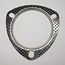 Qty 5 2.25 3 Bolt MLSG High Temp Exhaust Gasket w//SS Fire Ring