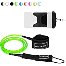 Surfboard Fishing Poles Rods FIRINER Paddle Leash Set 2 Pack Stretchable Kayak Paddle Leash Tether with D-Shape Carabiner Bungee Leash Strap 1ft for Kayaking Canoe SUP Board Paddles