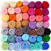 80g 8 pack Dimensions Needlecrafts Rainbow Wool Roving for Needle Felting