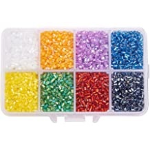 420pcs//Box Transparent Glass Beads Round Smooth 15 Color Frosted Finish 8mm DIA