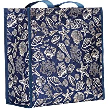 Signare Tapestry Women Shopping Shoulder Tote Bag Garden Flower with Sunflower Poppy Dragonfly Butterfly in Black Shop-MGDBK