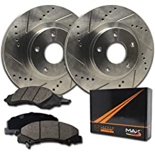 Honda Legend For Acura Odyssey Front Rear  Drilled Brake Rotors+Ceramic Pads