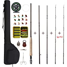 NetAngler Fishing Rod and Reel Combos,5.9FT Novice,Beginners Family 3.9FT Telescopic Fishing Poles with Spin-cast//Spinning Fishing Reel Full Kits All-in-one Carrying Bag for Kids,Youth