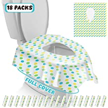The Pregnant Kids Potty Training 60 Packs XL Toilet Seat Covers Disposable Full Cover Travel Potty Shields Extra Large No Slip Waterproof Individually Wrapped for Adult